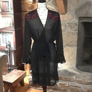 Sheer black & red robe, Gilligan & O'Malley